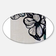 Flower Illustration Border Decal
