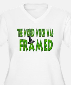 Wicked Witch Was Framed Plus Size V-Neck TShirt Pl
