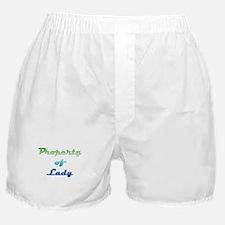 Property Of Lady Female Boxer Shorts