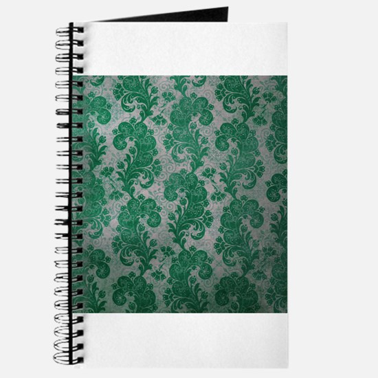 Flora Green Vintage Pattern Journal