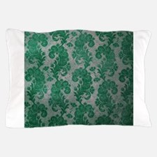 Flora Green Vintage Pattern Pillow Case