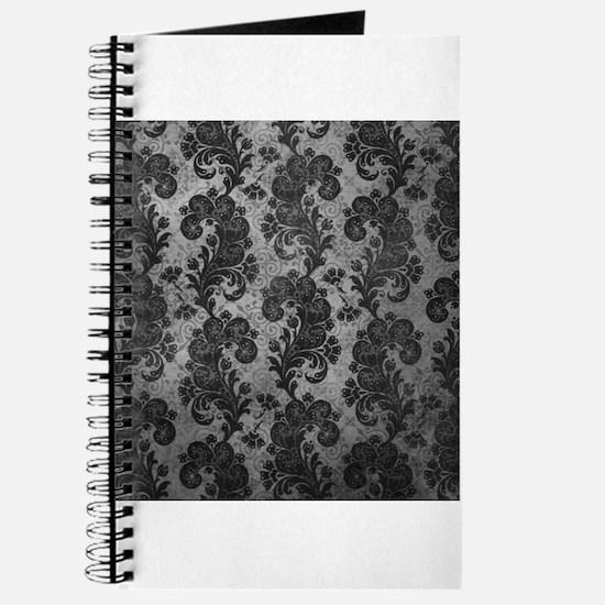 Flora Silver Gray Vintage Pattern Journal