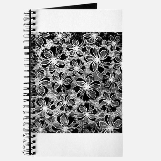 Black White Vintage Lace Journal