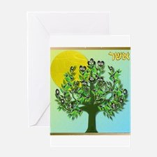 12 Tribes Israel Asher Greeting Cards