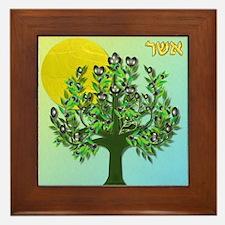 12 Tribes Israel Asher Framed Tile