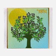 12 Tribes Israel Asher Throw Blanket