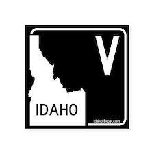 V Highway Sign Black