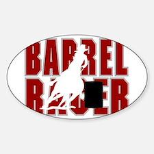 BARREL RACER [maroon] Sticker (Oval)