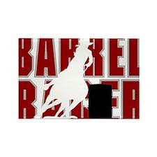 BARREL RACER [maroon] Rectangle Magnet