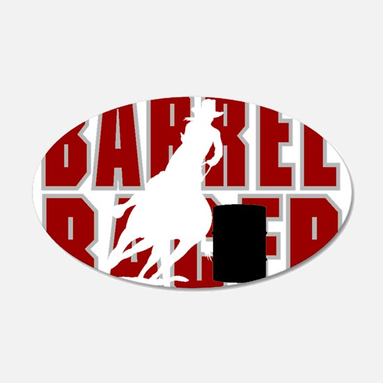 BARREL RACER [maroon] Wall Decal