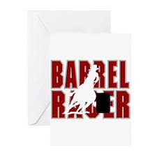 BARREL RACER [maroon] Greeting Cards (Pk of 10)