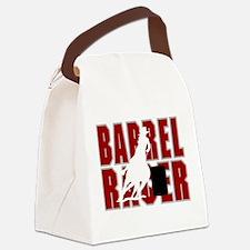 BARREL RACER [maroon] Canvas Lunch Bag