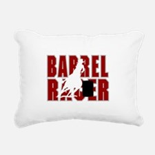 BARREL RACER [maroon] Rectangular Canvas Pillow