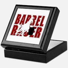 BARREL RACER [maroon] Keepsake Box