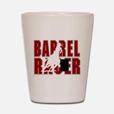 BARREL RACER [maroon] Shot Glass