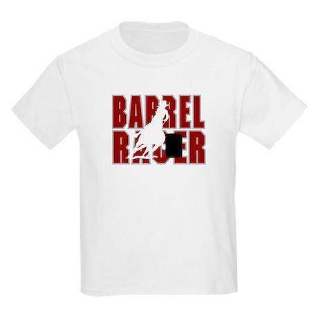 BARREL RACER [maroon] Kids Light T-Shirt