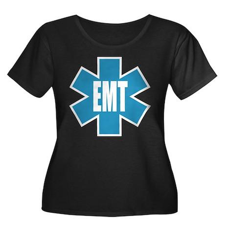 EMT Star Women's Plus Size Scoop Neck Dark T-Shirt