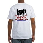 Axis of Liberals (Evil Conservative)Fitted T-Shirt