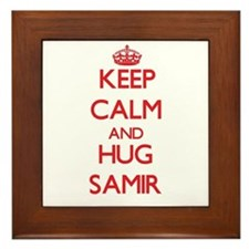 Keep Calm and HUG Samir Framed Tile