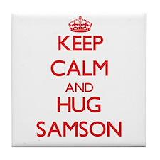 Keep Calm and HUG Samson Tile Coaster