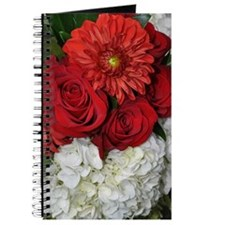 Red and white wedding bouquet Journal