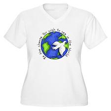 World Peace Gandhi - 2008 Plus Size T-Shirt