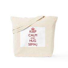 Keep Calm and HUG Semaj Tote Bag