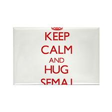 Keep Calm and HUG Semaj Magnets