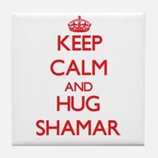 Keep Calm and HUG Shamar Tile Coaster