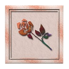 Abstract Rose Art Tile Coaster