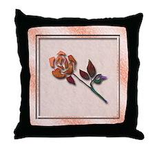 Abstract Rose Art Throw Pillow