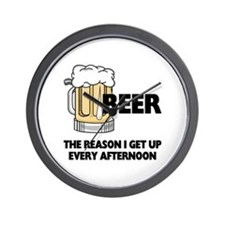 Beer Every Afternoon Wall Clock