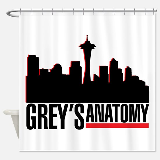 Skyline.png Shower Curtain