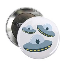 "UFO Spacecrafts 2.25"" Button (10 pack)"