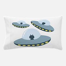 UFO Spacecrafts Pillow Case