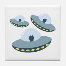 UFO Spacecrafts Tile Coaster