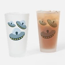 UFO Spacecrafts Drinking Glass