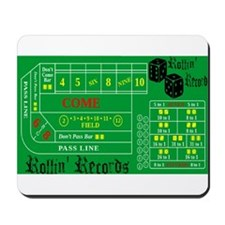 Rollin Records Craps Table Mousepad