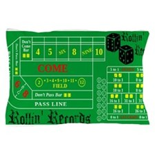 Rollin Records Craps Table Pillow Case