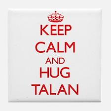 Keep Calm and HUG Talan Tile Coaster
