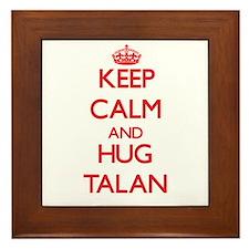 Keep Calm and HUG Talan Framed Tile