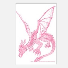 Pink Firedrake Postcards (Package of 8)