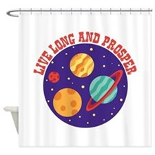 LIVE LONG AND PROSPER Shower Curtain
