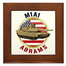 M1A1 Abrams Framed Tile