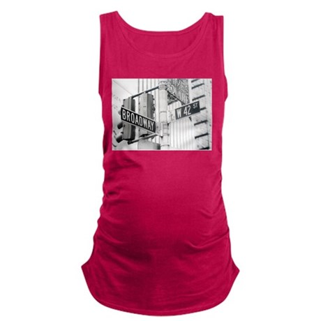 NY Broadway Times Square - Maternity Tank Top