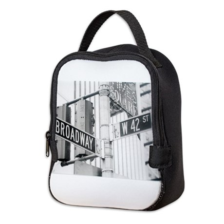 NY Broadway Times Square - Neoprene Lunch Bag