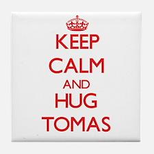 Keep Calm and HUG Tomas Tile Coaster