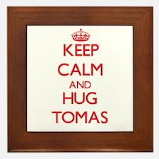 Keep Calm and HUG Tomas Framed Tile