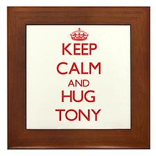 Keep Calm and HUG Tony Framed Tile
