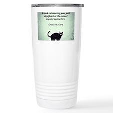 Cat Crossing Travel Mug